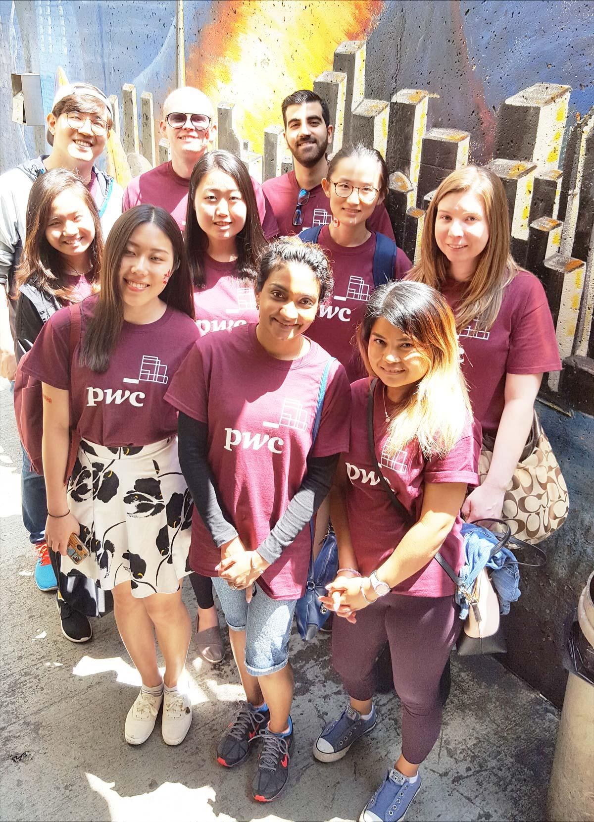 Volunteers in Purple