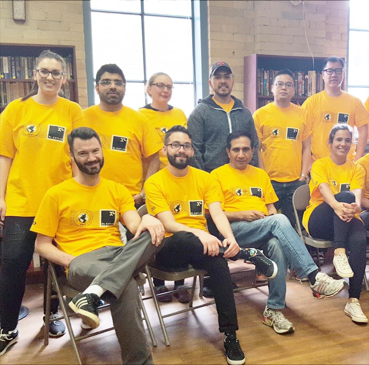 Volunteers in Yellow